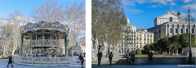 Madri, Praça de Oriente e Teatro Real de Madri