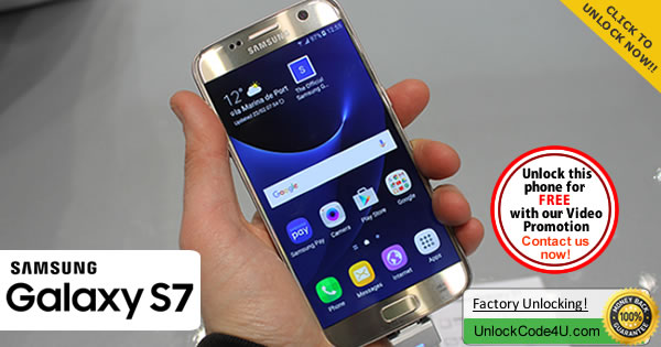 Factory Unlock Code Samsung Galaxy S7 by unlock code