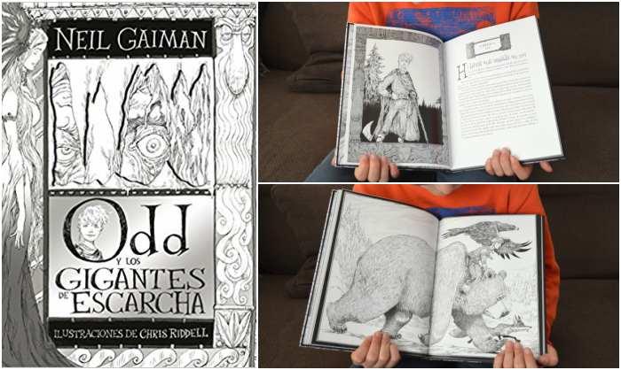 cuentos y libros infantiles juveniles para +8, 12 años odd gigantes escharcha neil gaiman chris riddell