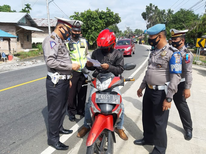 Operasi Patuh Singgalang 2020, Satlantas Polres Padang Pariaman Telah Menilang 72 Pelanggar Lalulintas