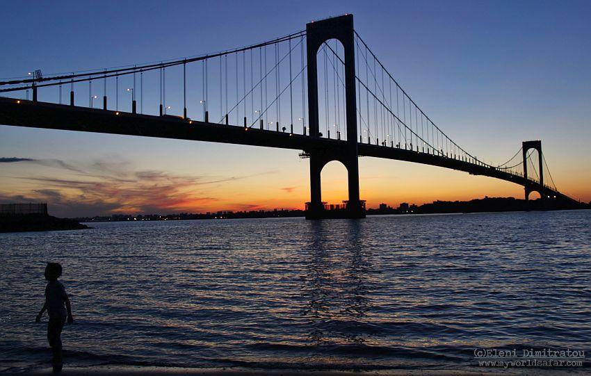 Η Γέφυρα Whitestone στην Νέα Υόρκη