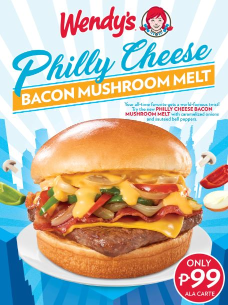 Wendy's Philly Bacon Mushroom Melt