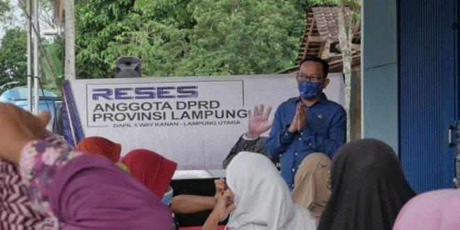 Reses, Anggota DPRD Lampung Ajak Masyarakat Memutus Mata Rantai COVID-19