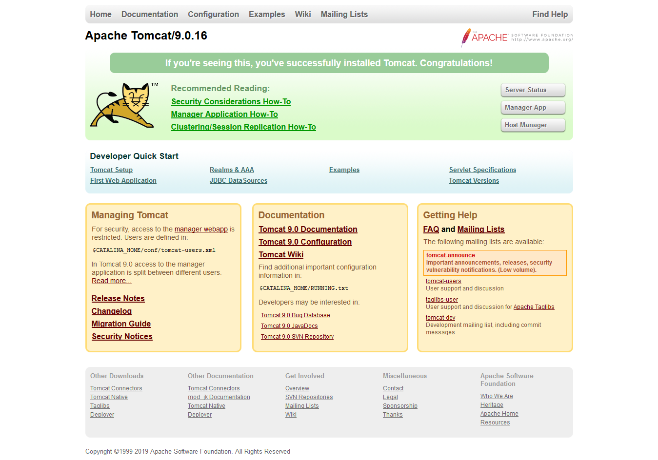 Install Apache Tomcat 9 with Application Manager on CentOS 7