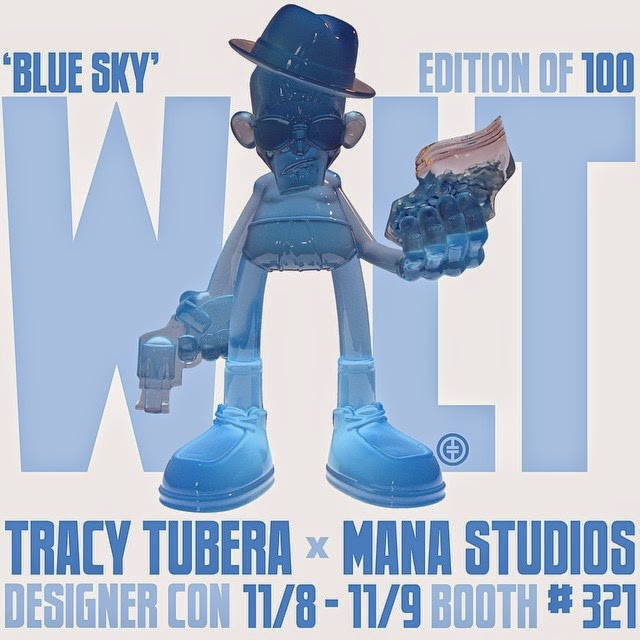 Designer Con 2014 Exclusive Blue Sky Edition Walt Breaking Bad Resin Figure by Tracy Tubera