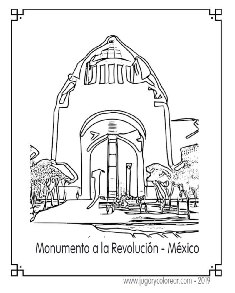 Monumentos De México Colorear