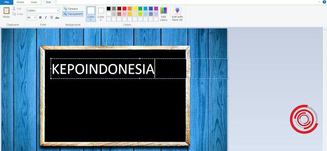 Cara Menambah Teks dan Tulisan di Aplikasi Paint