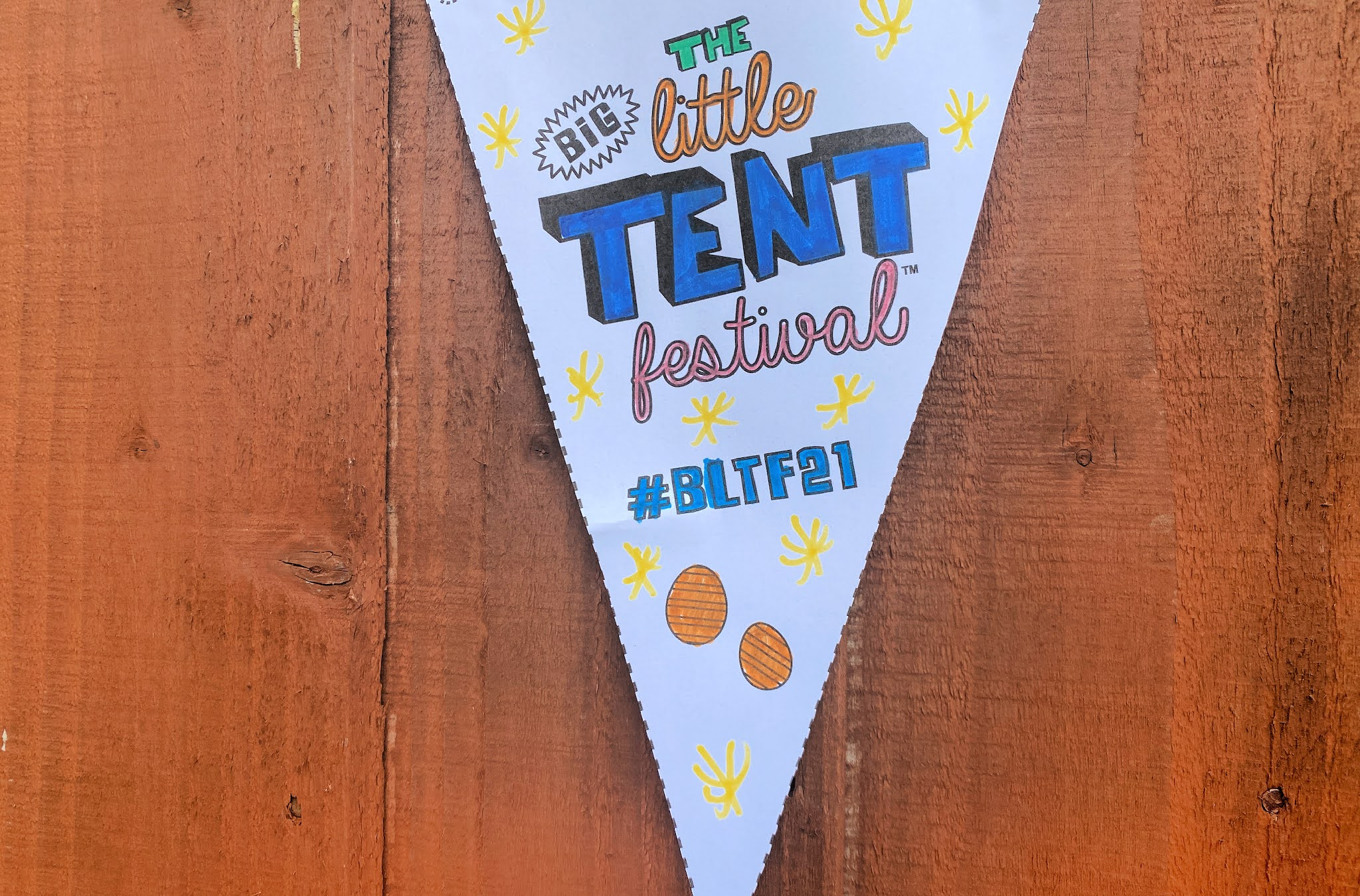 The little big tent festival bunting
