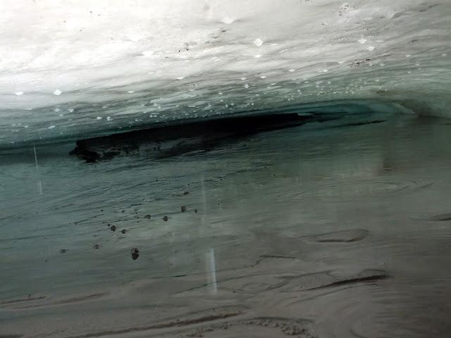 gotas de agua de un glaciar