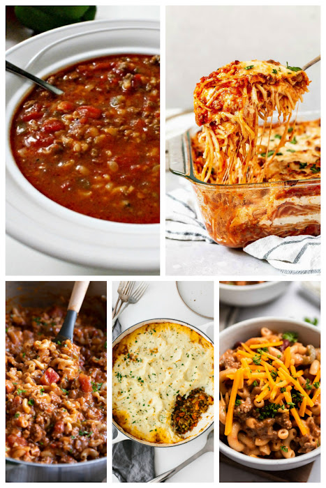 Are you looking for some ground beef dinner recipes? Is your freezer packed with ground beef and you just don't know what to make? Use this collection of 75 Ground Beef Dinner Ideas to give you some inspiration on what to make for dinner tonight! #groundbeef #dinner