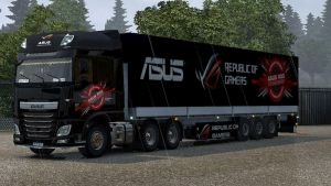 ASUS Republic Of Gamers pack for DAF Euro 6