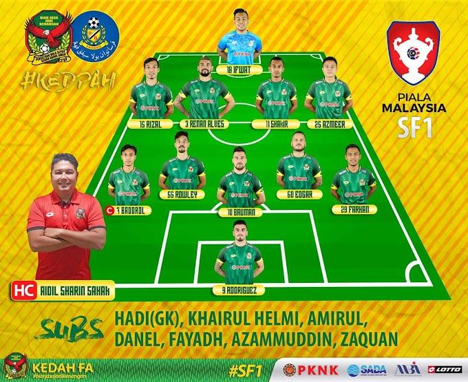 Keputusan Separuh Akhir Piala Malaysia Kedah Lawan Pahang