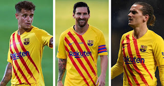 Messi, Griezmann and Coutinho versatility is very good for the team: Barcelona boss Koeman