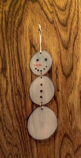 Milk Jug Snowman Ornament