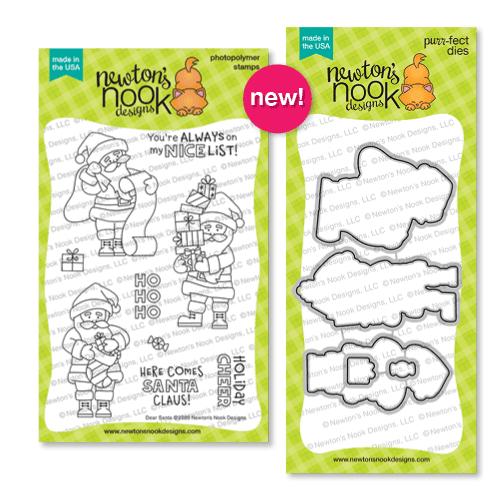 Dear Santa Stamp Set and coordinating die Set by Newton's Nook Designs #newtonsnook