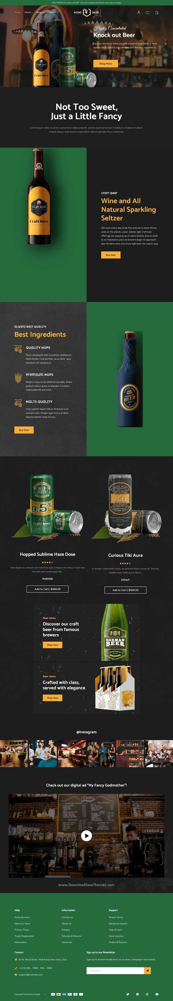 Beer Shop Shopify Theme
