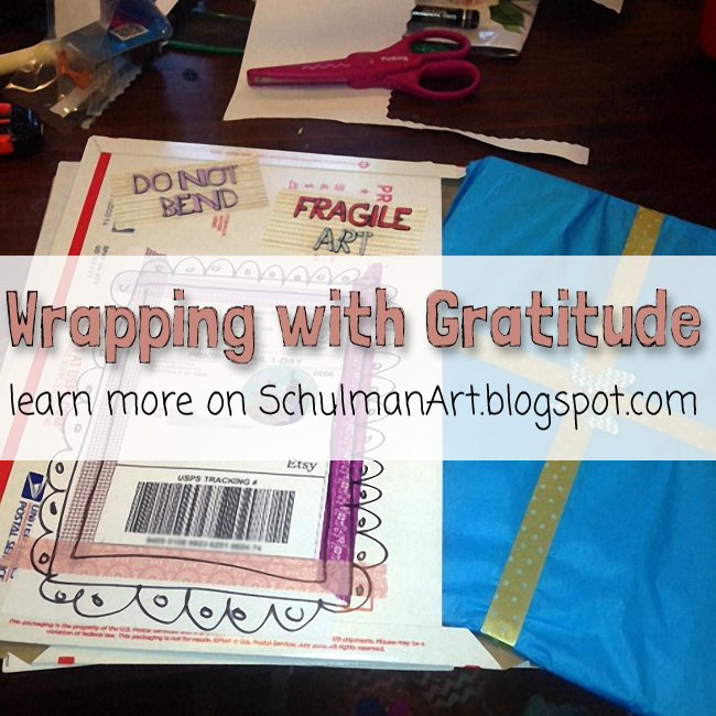 how to pack art http://schulmanart.blogspot.com/2015/11/wrapping-art-with-gratitude.html