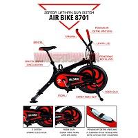 Alat Peralatan Fitness Sepeda Statis Air bike 8701 - Alat Olahraga Murah