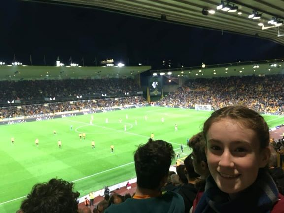 teen at Wolves football ground, in Molineux stadium