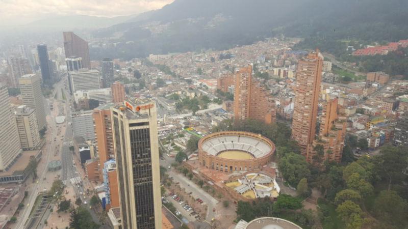 Stad Bogota in Colombië