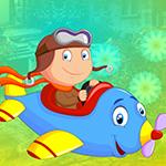 Games4King - Blue Plane Girl Escape