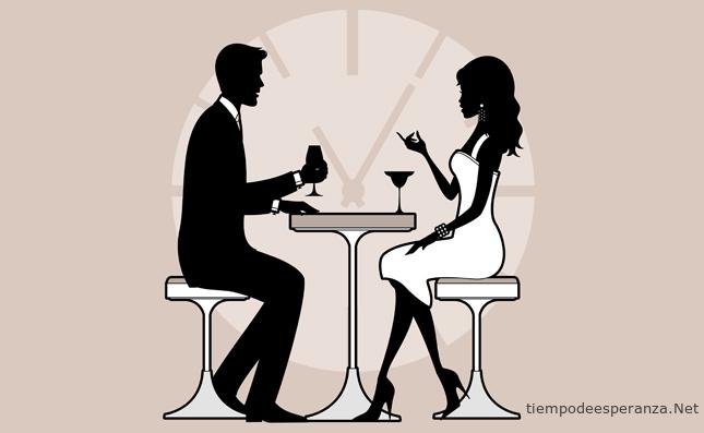 Cita de pareja en un restaurante