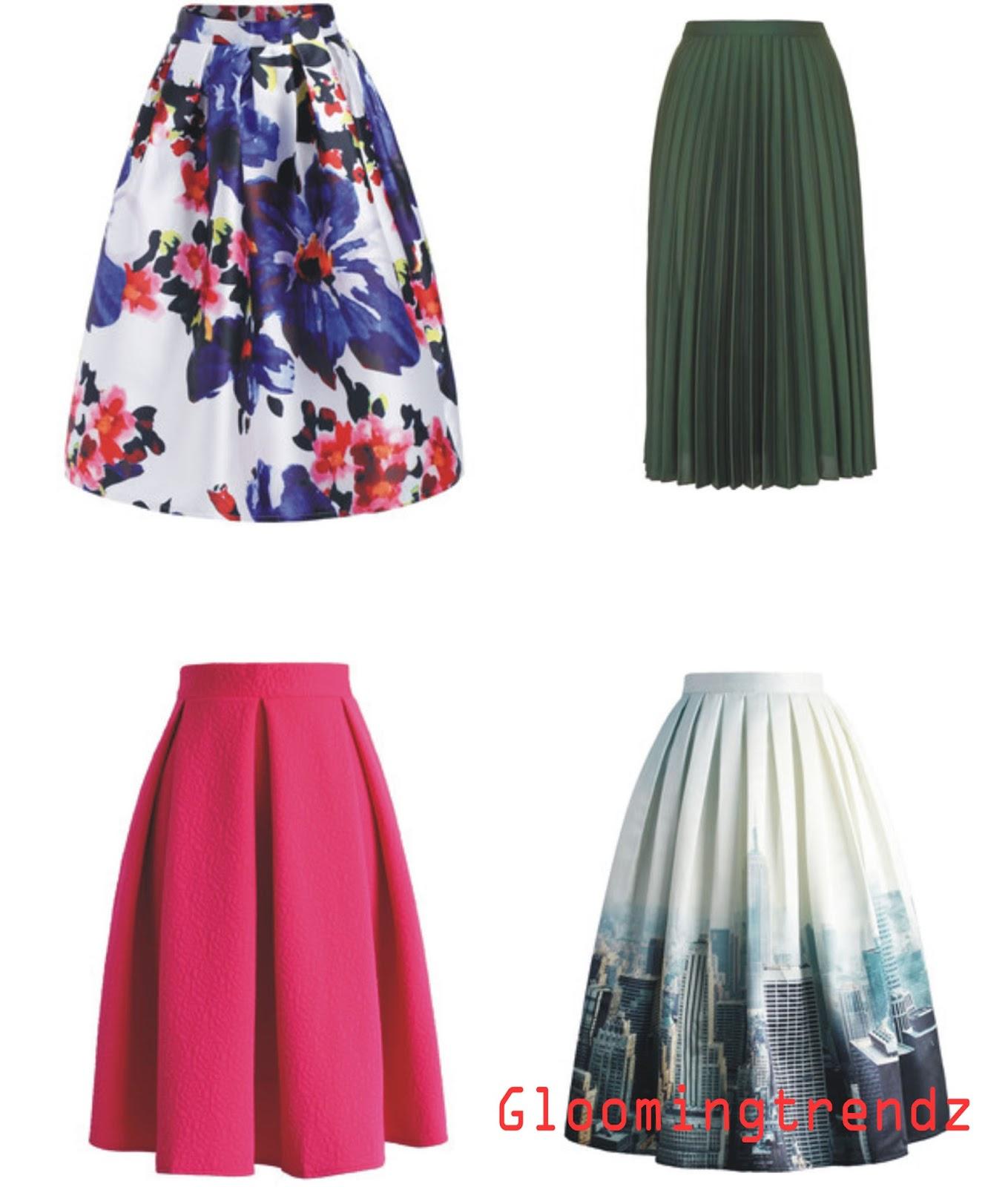 how to style midi skirt glooming trendz