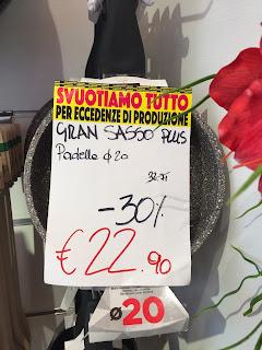 Barazzoni outlet in Bergamo.