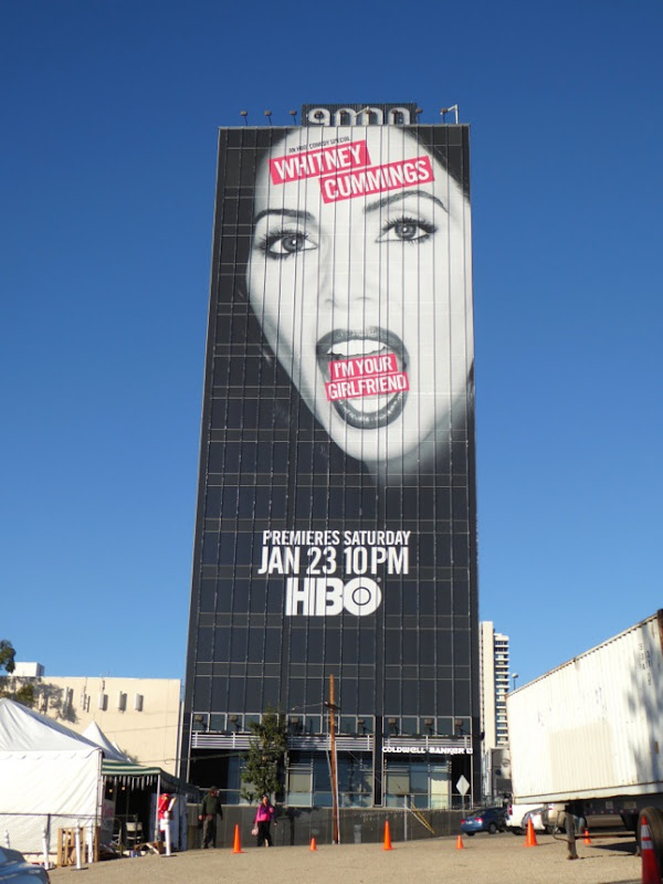 Giant Whitney Cummings I'm your Girlfriend HBO billboard