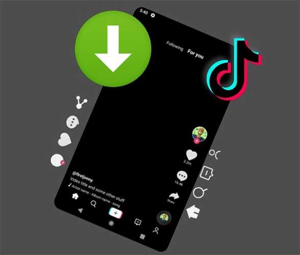 Cara download video tiktok dengan menggunakan aplikasi fitur bawaan