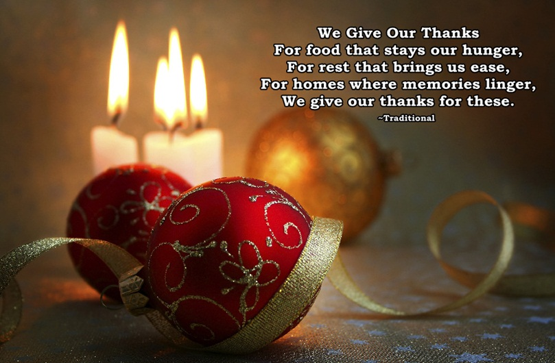 Merry Christmas Dinner Prayer Image