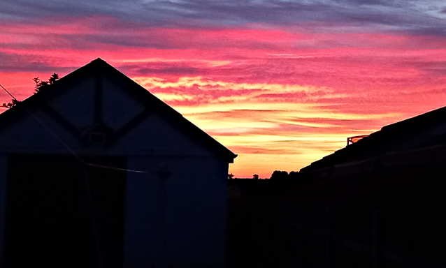 Pretty pink sky