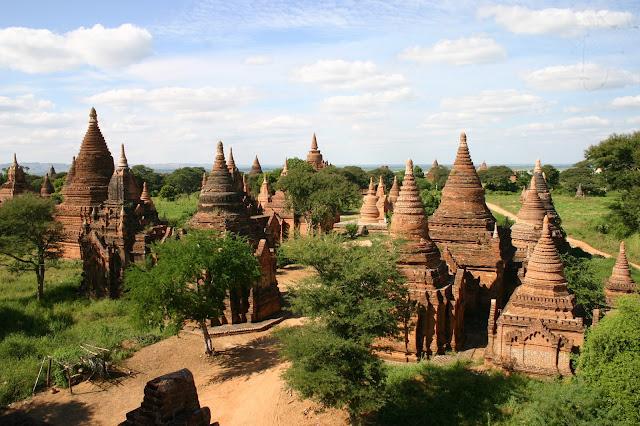 Golden Pagodas, Bagan, Myanmar