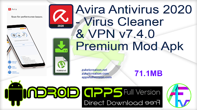 Avira Antivirus 2020 – Virus Cleaner & VPN v7.4.0 Premium Mod Apk