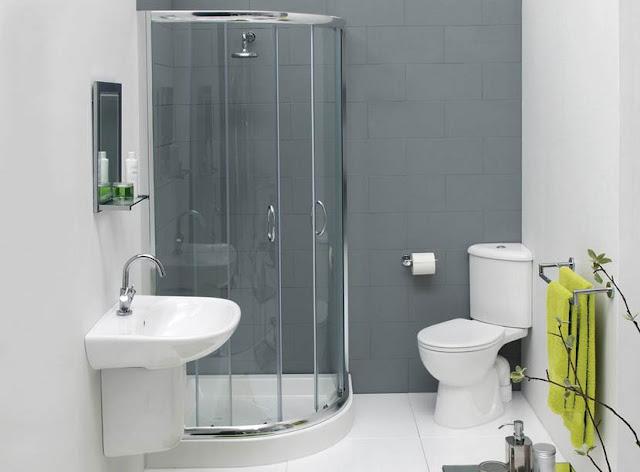 Desain Kamar Mandi Minimalis dengan Shower Terbaru