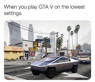 Tesla CyberTruck Meme by @pcgaming on Instagram