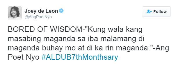 "Joey de Leon's ""BORED OF WISDOM"" tweets have caught the netizens' attention! MUST READ!"