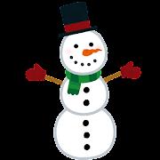 三段の雪だるまのイラスト