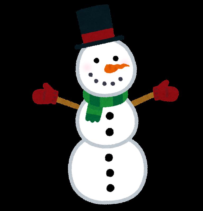 三段の雪だるまのイラスト かわいいフリー素材集 いらすとや