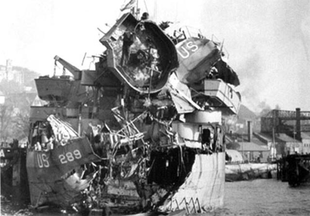 E-boats damaged LST 289, shown, during preparations for D-Day worldwartwo.filminspector.com