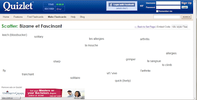 Image of Quizlet grade 8 Core French unit vocabulary review - TeachingFSL