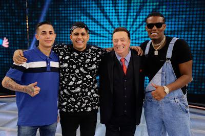 Os jurados de Funkeirinhos – MC Hariel, MC Gaab e MC IG(Foto: Rodrigo Belentani)