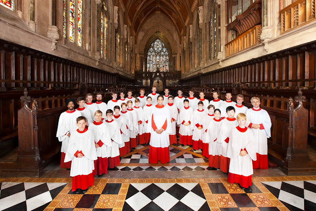 Andrew Nethsingha and the choir of St John's College, Cambridge (Photo Nick Rutter)