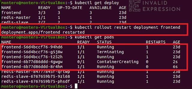 Kubectl rollout restart
