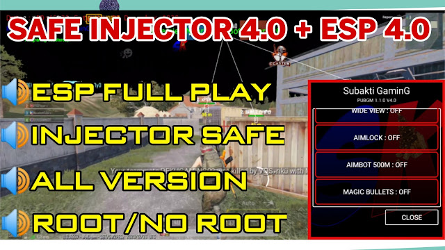 MOD INJECTOR 4.0 + ESP CCASTER 4.0 PUBG MOBILE 1.1.0 FULL BRUTAL FULL SAFE ALL VERSION | ROOT / NO ROOT | HQT LAG GAMING