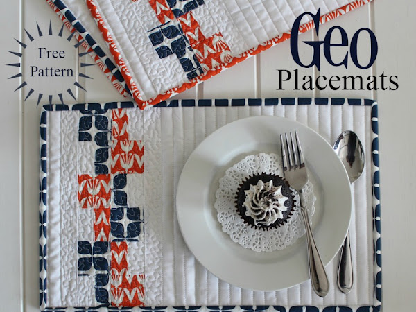 {Free Pattern} Geo Placemats + Blush Fabric Blog Tour