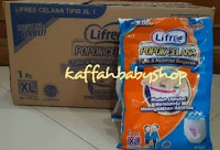 Lifree Popok Celana XL 1 Sachet Satuan Diaper Pants Dewasa