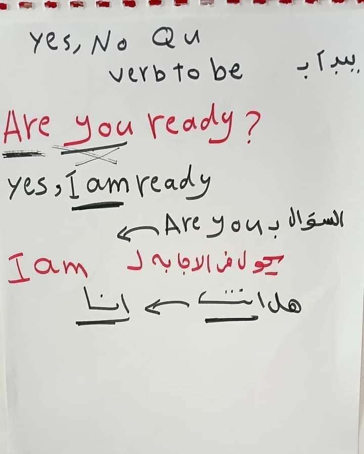 اساسيات جرامر - الضمائر الاساسيه في اللغه الانجليزيه واستخدام verb to be 5