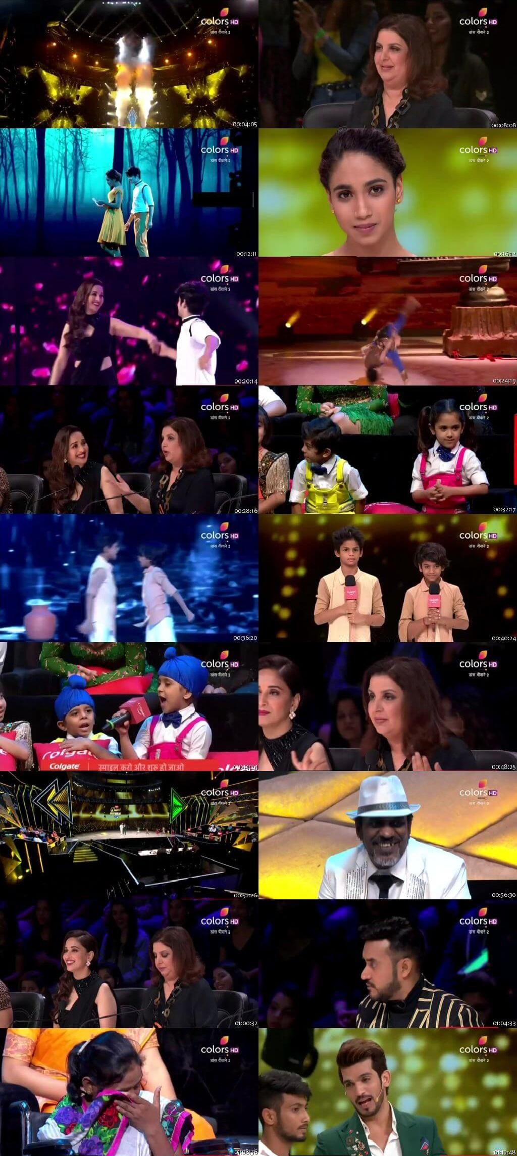 Screenshots Of Hindi Show Dance Deewane 2 28th July 2019 Episode 14 300MB 480P HD