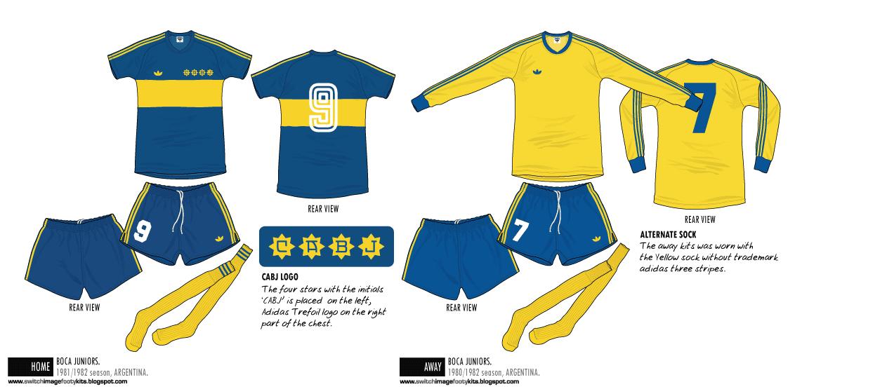 save off f6a3c b3fb9 Football teams shirt and kits fan: Boca Juniors 1980-1982 ...